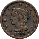 One Cent 1844